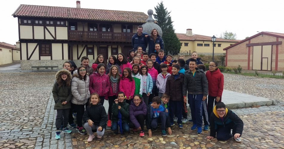 Participantes del C.E.I.P Cervantes y C.E.I.P. San Pedro Bautista (Ávila)