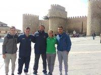 Jonathan, Carlos, Nerea y Javier, nuestro equipo de monitores