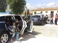 Probando vehículos policiales