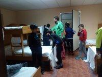 Ordenando la habitación