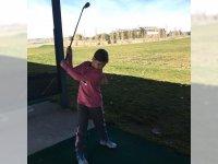 Escuela de golf, tiro largo